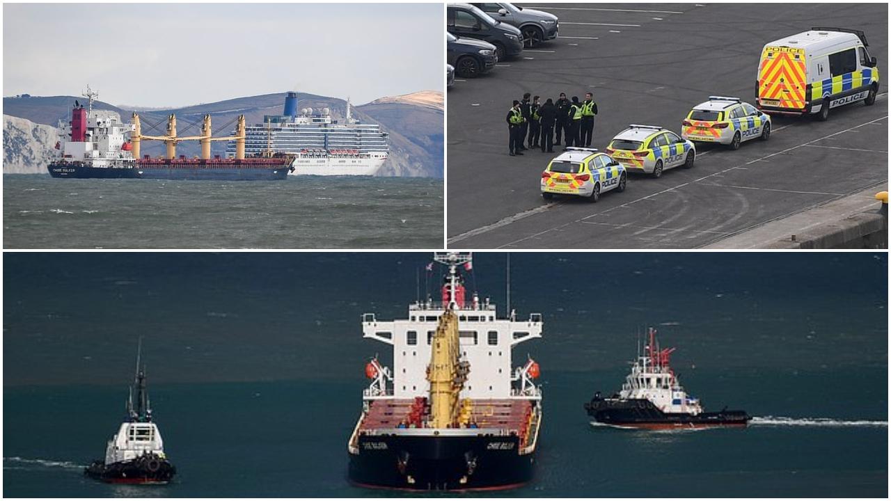 7 shqiptarë të arrestuar në një anije mallrash në Britaninë e Madhe