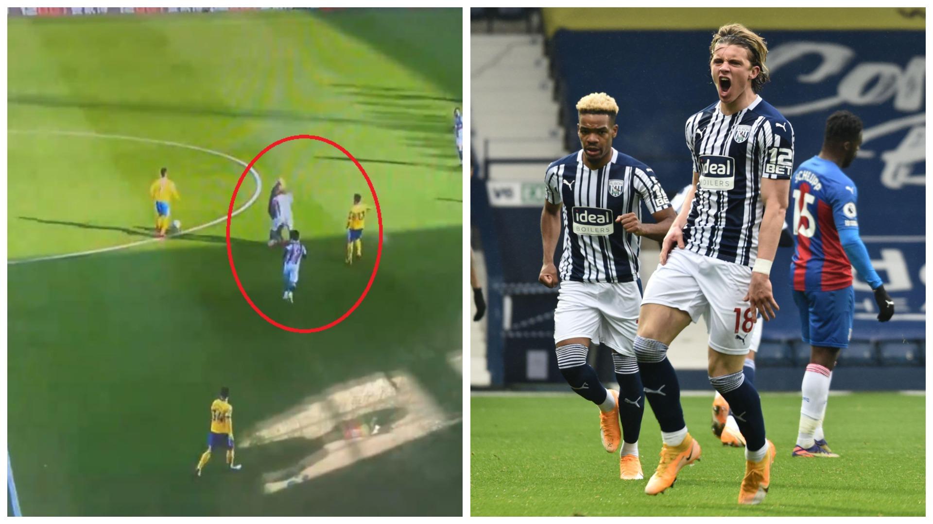"""VIDEO/ """"Aksident"""" me gjyqtarin në Premier League, mesfushori e hedh në tokë"""