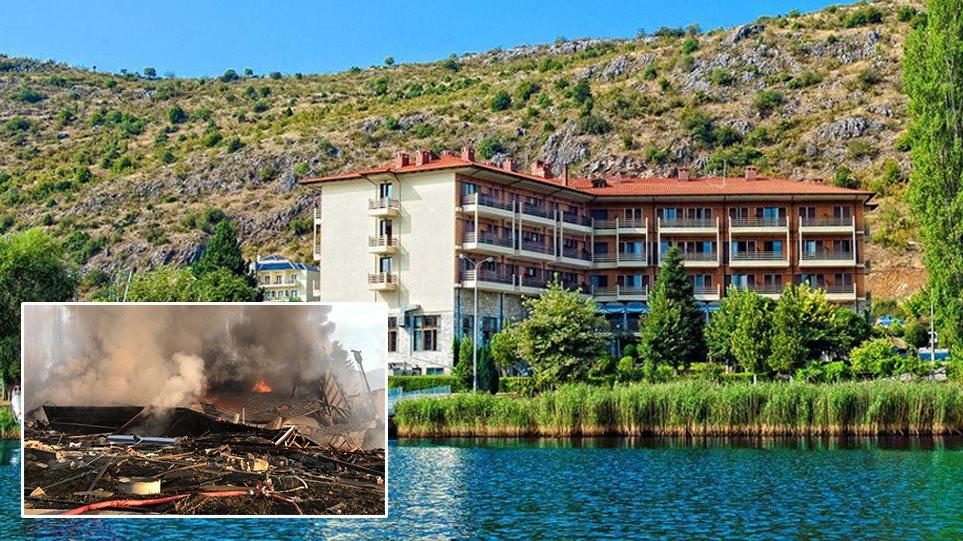 Shpërthimi gjigant rrafshon hotelin në Kostur