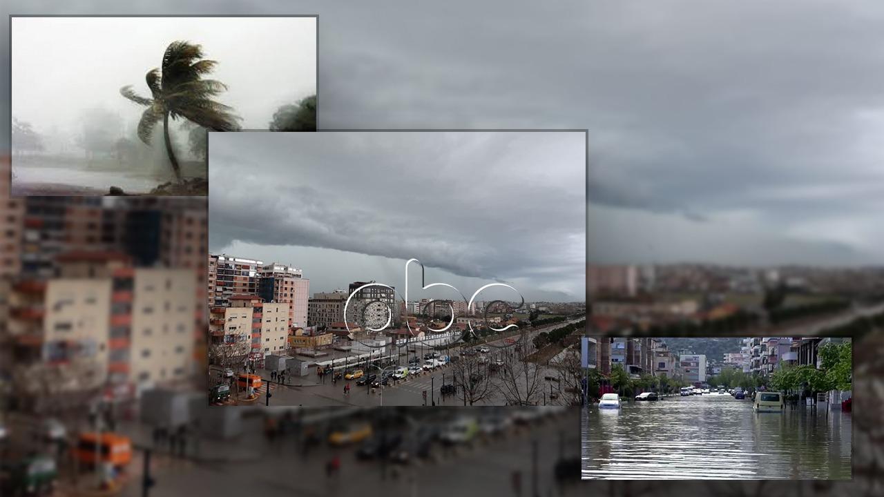 Fillojnë reshjet, egërsohet deti: Shi i dendur dhe rrufe pushtojnë Shqipërinë qendrore