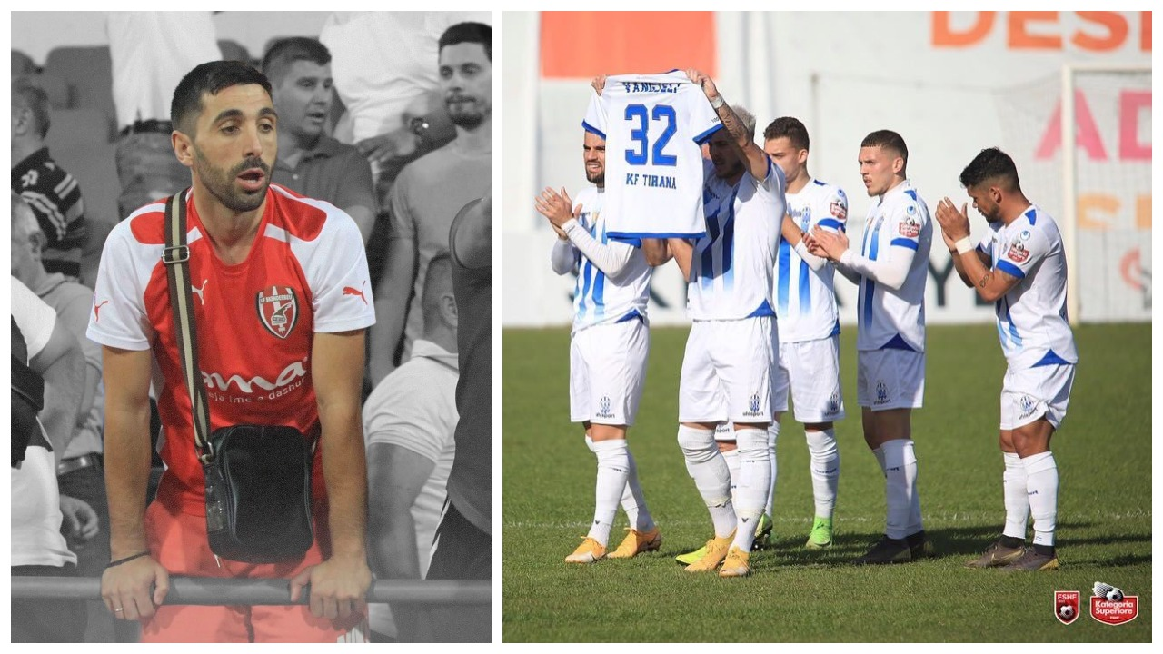 VIDEO/ Goli i parë, Tirana dedikim të ndjerë Kristi Vangjelit