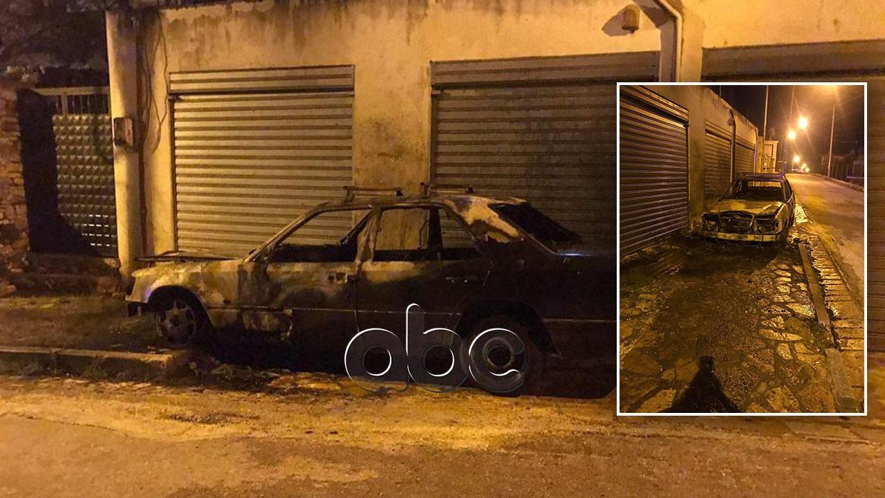 Digjet gjatë natës një automjet në Sarandë