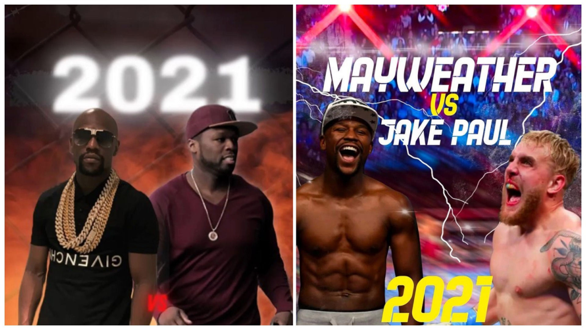 """""""Fituesi i merr të gjitha"""", Mayweather sfidon 50 Cent dhe pranon duelet me vëllezërit Paul"""