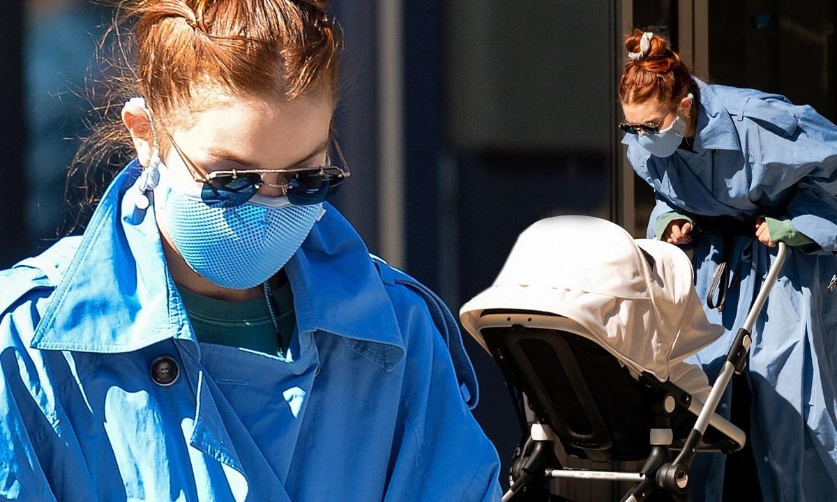 Gigi Hadid merr gjithë vëmendjen, teksa nxjerr vajzën e saj për një shëtitje në New York City