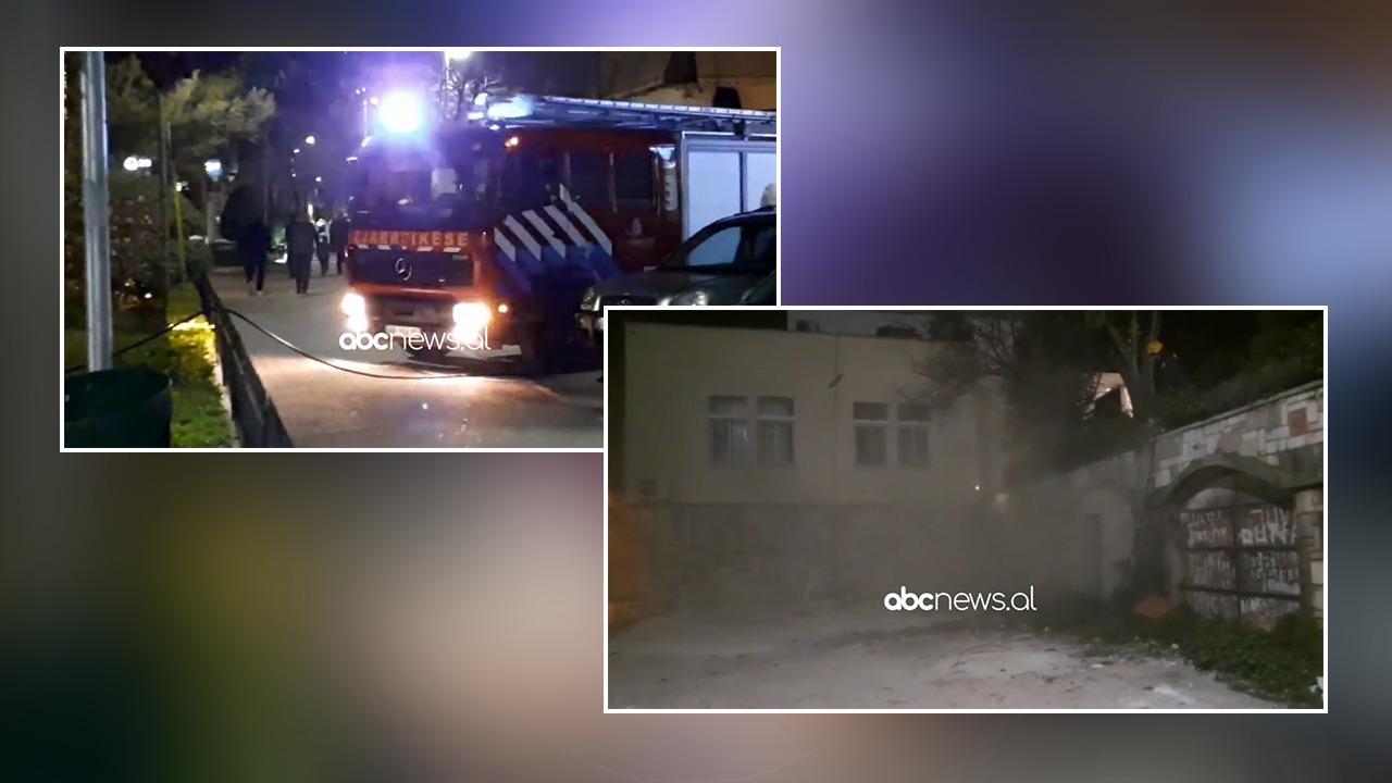 Tym dhe flakë pranë bashkisë së Sarandës, ndërhyjnë zjarrfikësit