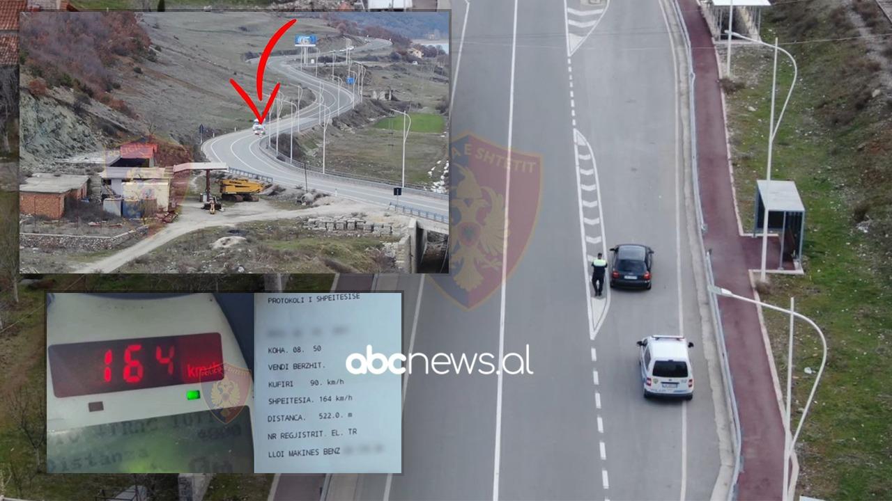 """Droni i bën """"gjëmën"""" makinës në fluturim në Pogradec, 32 shoferë të arrestuar në fundjavë"""
