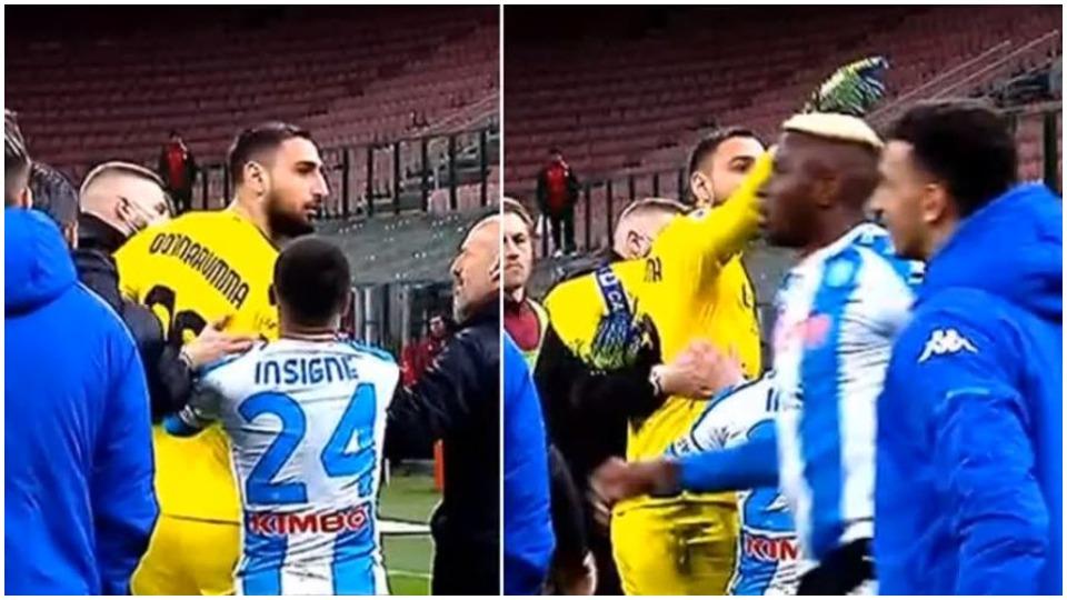 Tension pas ndeshjes, Donnarumma acarohet me stolin e Napolit: Jeni një bandë