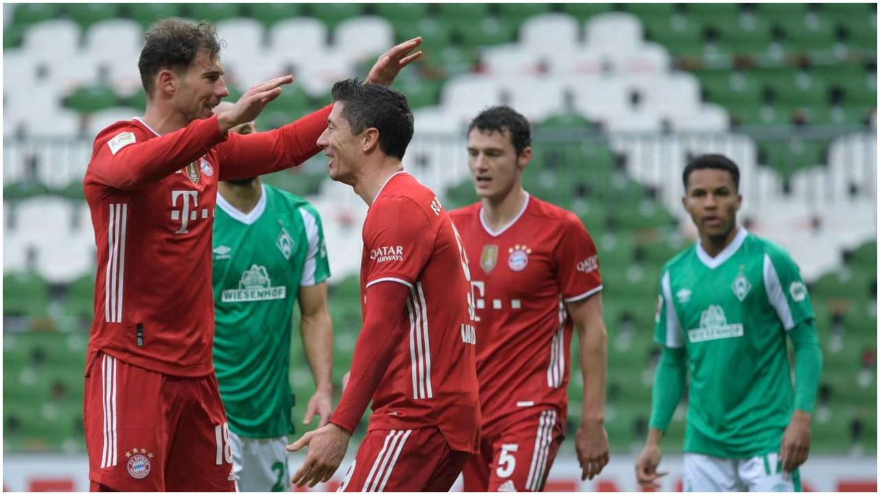 VIDEO/ Bayerni nuk gabon në Bremen, Lewandowski në historinë e Bundesligës