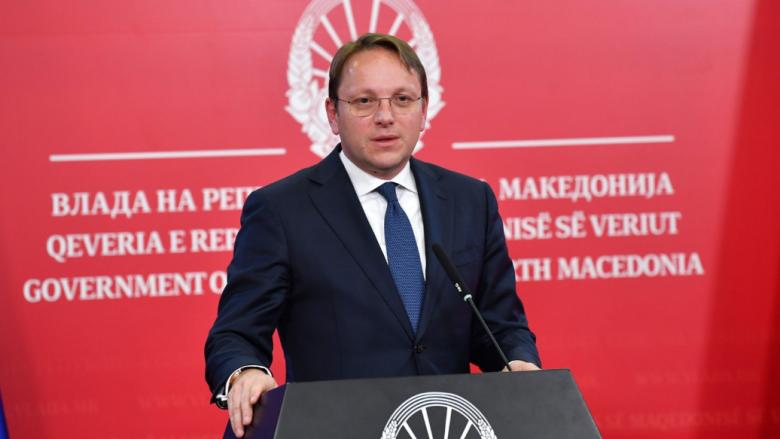 Varhelyi: Shpresoj që konferenca e parë ndërqeveritare me RMV-në të mbahet deri në korrik