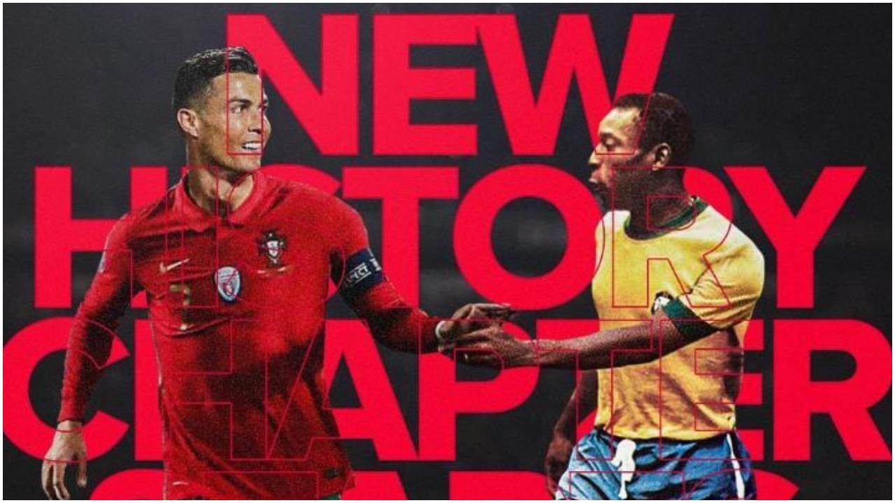 """""""Të admiroj Cris, sa keq që s'të përqafoj dot"""", Pele uron """"mbretin"""" portugez"""