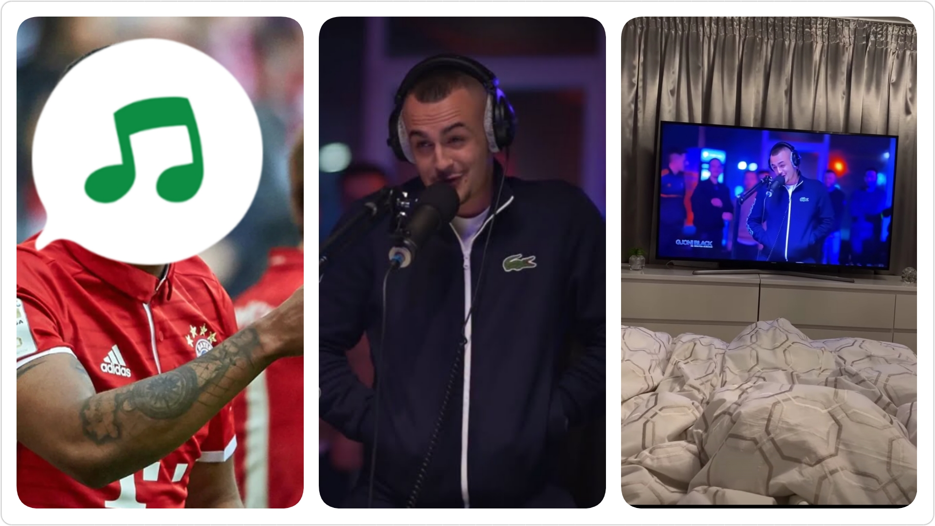 VIDEO/ Don Xhoni thyen çdo kufi, e ndjek në TV edhe ylli brazilian i Bayern