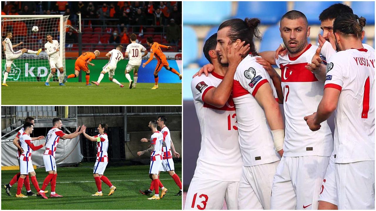 VIDEO/ Turqia në super formë, Holanda dhe Kroacia marrin fitoret e para