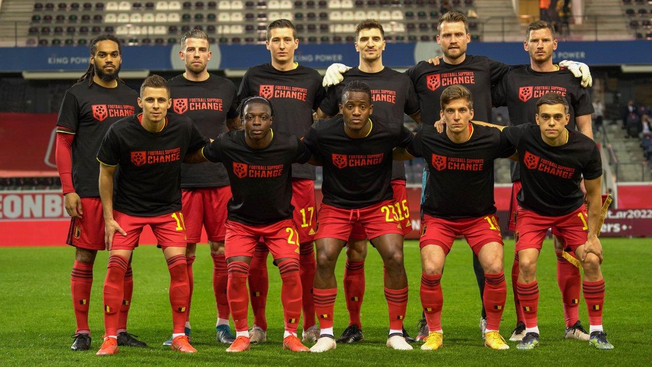 """Protesta për """"Katar 2022"""", Belgjika: Le të përdorim fuqinë, futbolli bën ndryshimin!"""