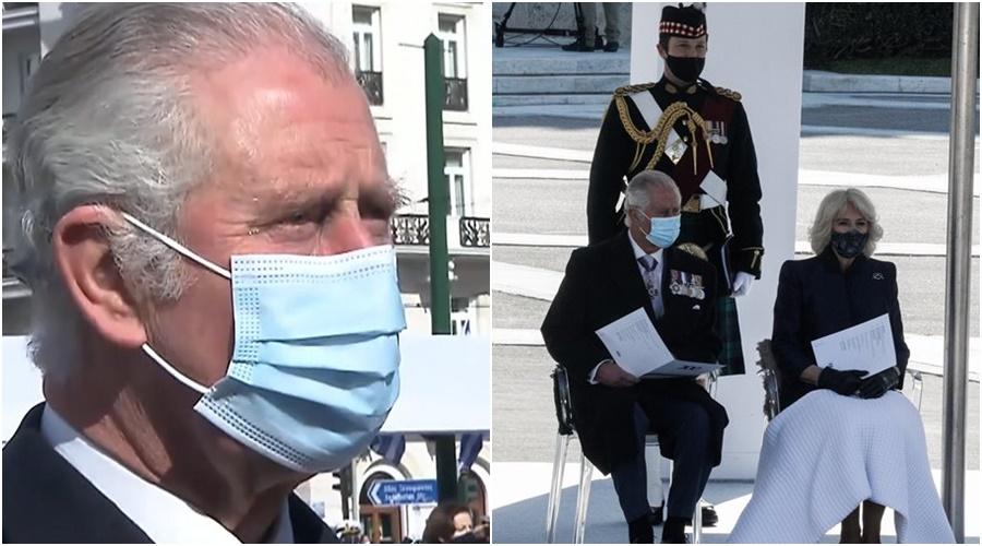 200-vjetori i Pavarësisë së Greqisë, Princi Charles s'i mban dot lotët gjatë vendosjes së kurorave