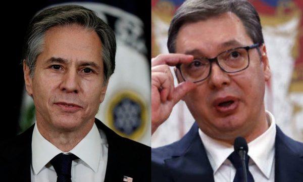 Sekretari amerikan i Shtetit i shkruan Vuçiçit, i kërkon njohje reciproke me Kosovën