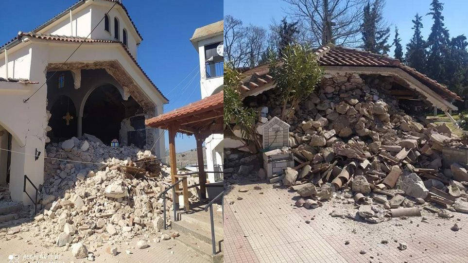 Kisha dhe shtëpi të shkatërruara, çfarë la pas tërmeti në Greqi. Lëkundjet u ndjenë edhe në Tiranë