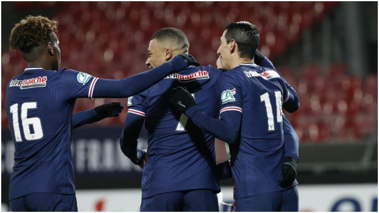 """VIDEO/ Dygolësh i Mbappe, PSG kualifikohet me """"tris"""" në Kupën e Francës"""