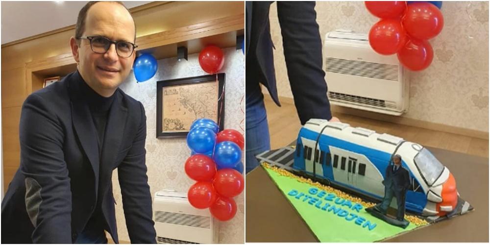 """""""Zbrite vetë nga treni"""", Bushati me tortë të veçantë për ditëlindje: U ndal në stacionin tim"""
