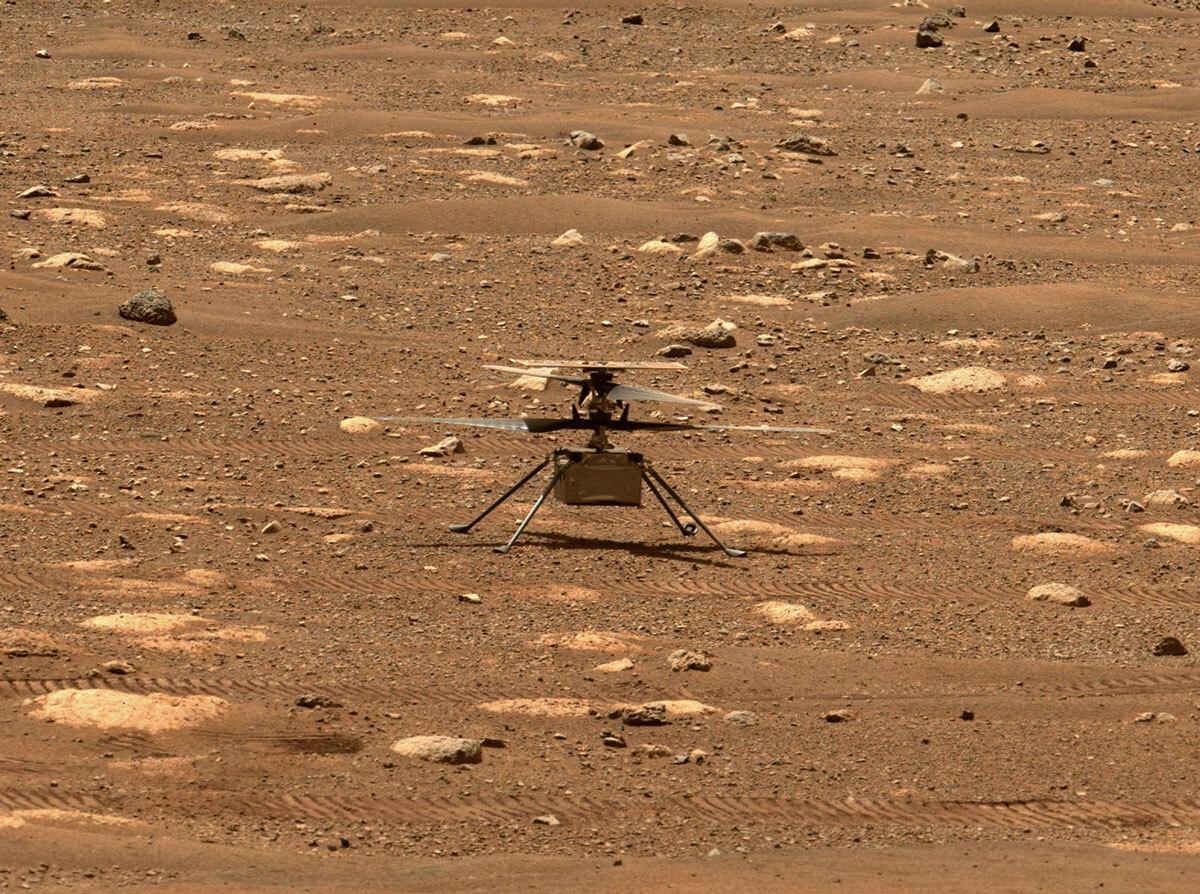 Helikopteri i Marsit kap imazhin e parë me ngjyra ajrore dhe përgatitet për provën e 3-të të fluturimit