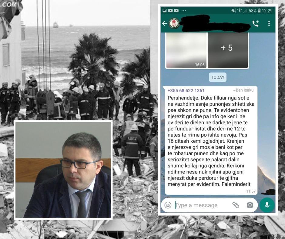 Xhaferaj nxjerr SMS-në: Drejtori i bashkise Durrës kërcënon punonjësit për votat