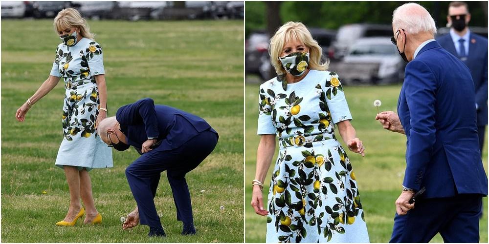 Presidenti romantik i SHBA, ndalet për t'i këputur një lule Zonjës së Parë