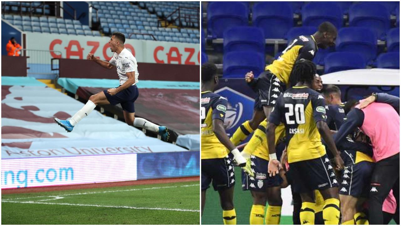 VIDEO/ Tre të kuq: Monaco në gjysmëfinalet e Kupës, City triumfon në Premier