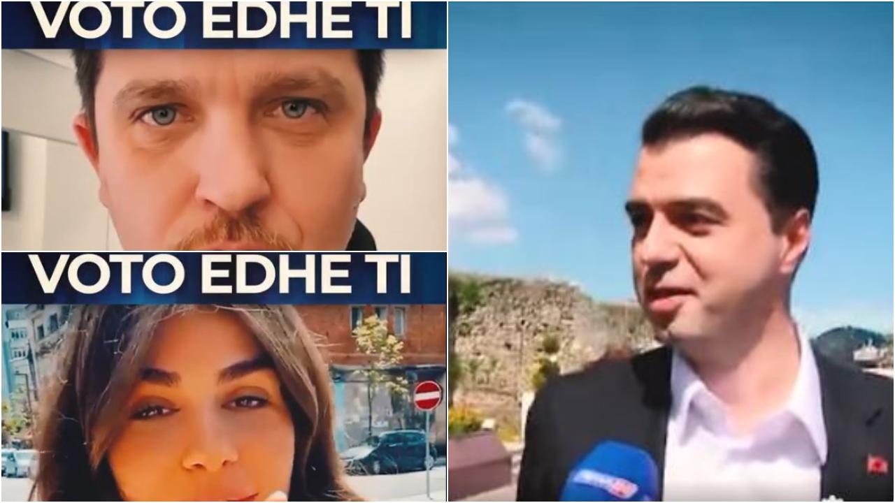 Një orë nga mbyllja e votimeve, Basha i bën thirrje qytetarëve përmes VIP-ave të njohur shqiptarë