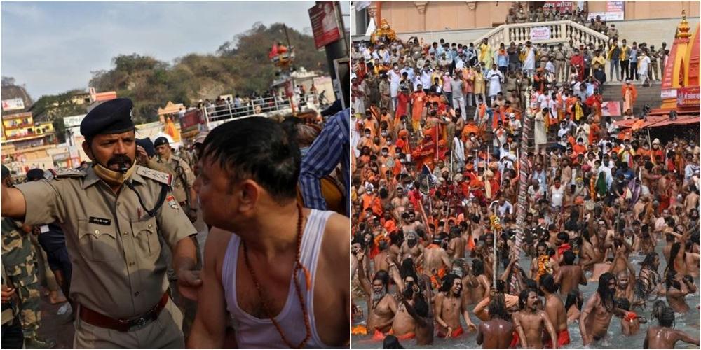 """Vendi përballet me shifra rekord infektimesh, miliona pelegrinë hindu """"dynden"""" në lumin Gang"""