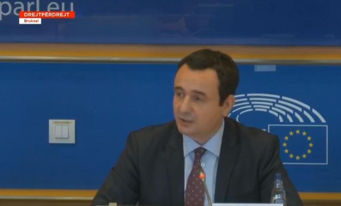 """""""S'mund të trajtohemi si fqinjë"""", Kurti në PE: BE të shpëtojë dhe të ndërtojë Ballkanin Perëndimor"""