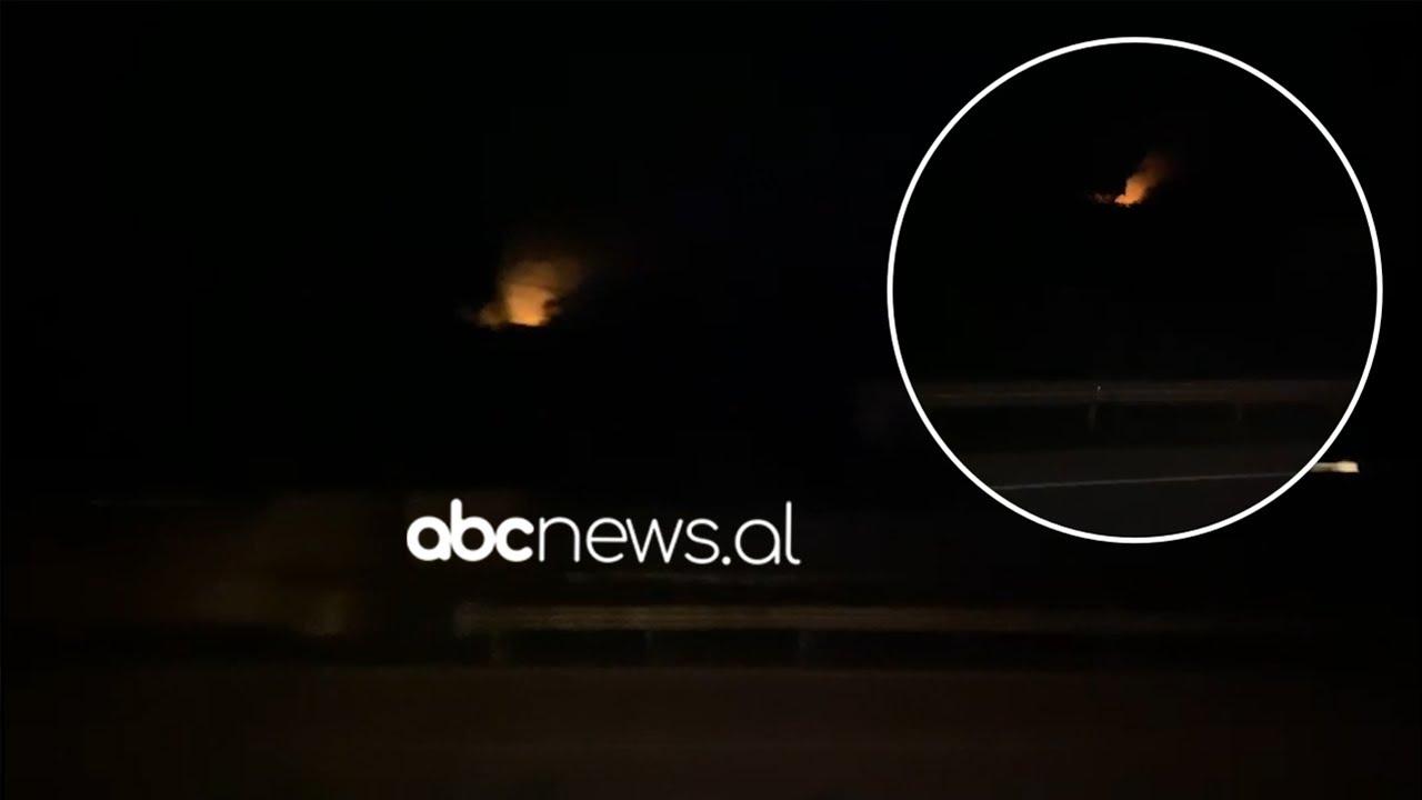 Zjarr në një parcelë me ullinj në Elbasan, terreni i vështirë bën të pamundur ndërhyrjen