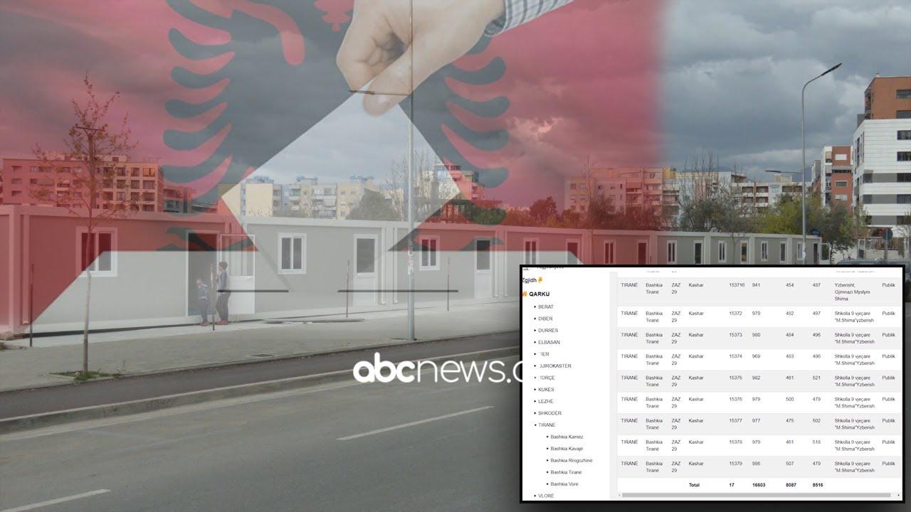 Tiranë, 16 mijë persona do të votojnë në kontenierë