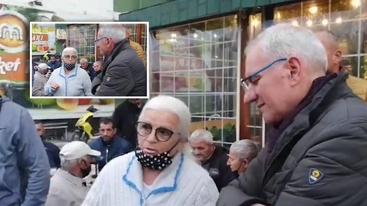 Mësuesja socialiste ndalon Xhaferajn në rrugë: Jam e majtë, ty të respektoj. Duhet të duam njeri-tjetrin në këtë qytet