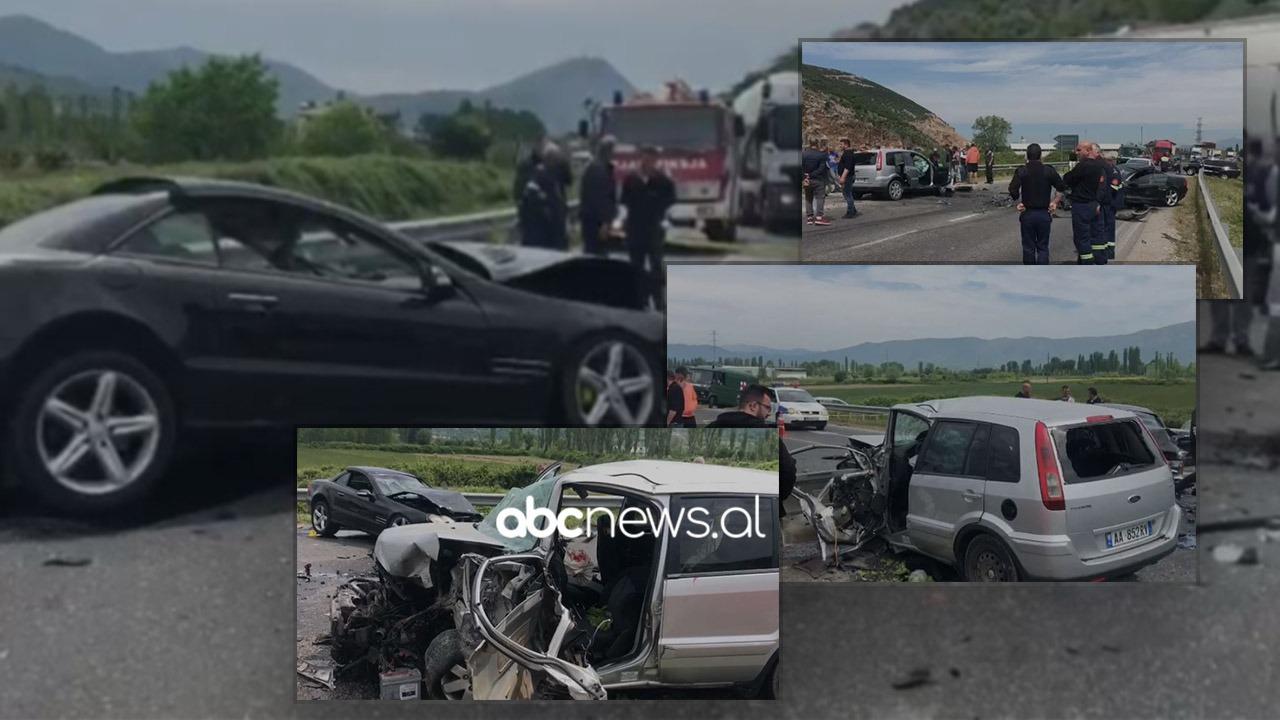 Aksident i trefishtë në superstradën Lezhë-Shkodër, katër të plagosur