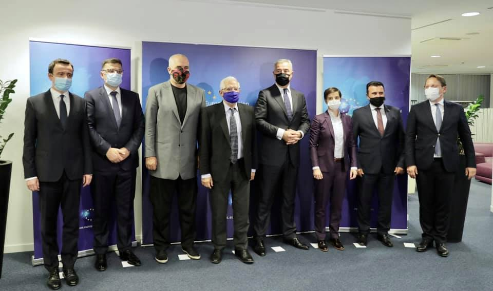 Rama darkë me liderët e Ballkanit në Bruksel