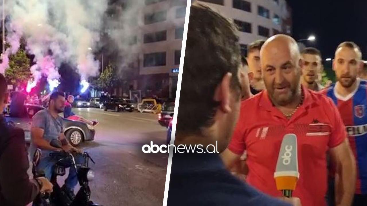 """""""Rroftë Vllaznia"""", shkodranët nuk përmbahen në rrugët e qytetit: Flakadanë dhe fishkezjarre"""