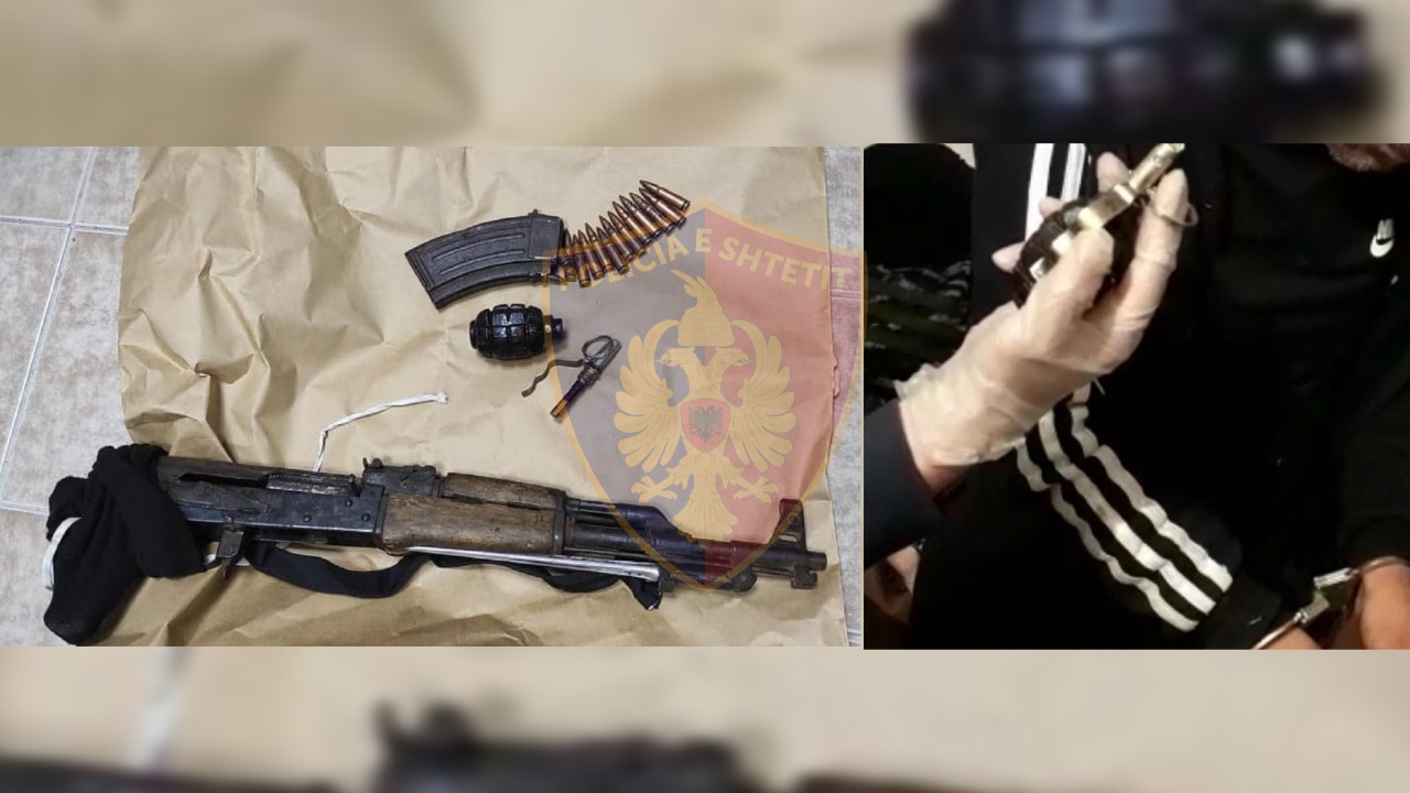 Frikë në Gjirokastër, burri i del para policisë me granatë në dorë