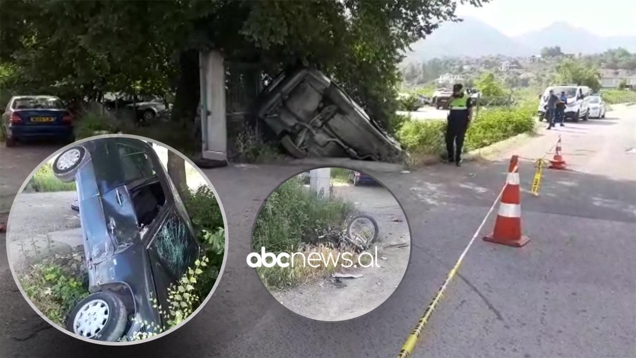 Pamje nga aksidenti me vdekje në Laç-Mamurras, drejtuesi i mjetit u largua nga vendi i ngjarjes