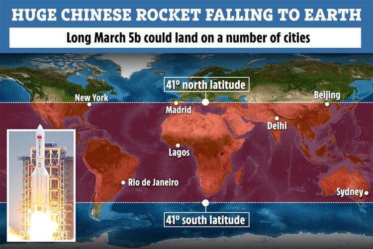 Raketa kineze del jashtë kontrollit: Mund të rrëzohet në qytete të banuara