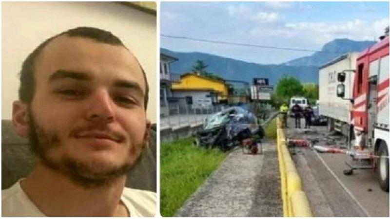(EMRI+FOTO) Aksidenti tragjik i merr jetën 22-vjeçarit shqiptar në Itali