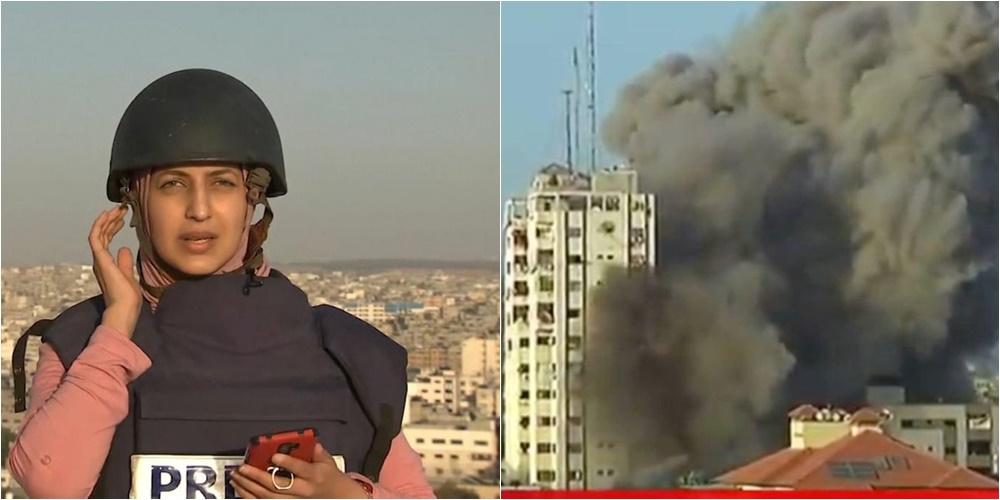 """VIDEO/ Gazetarja raporton """"live"""" nga Gaza, ndërtesa pranë goditet nga Izraeli"""