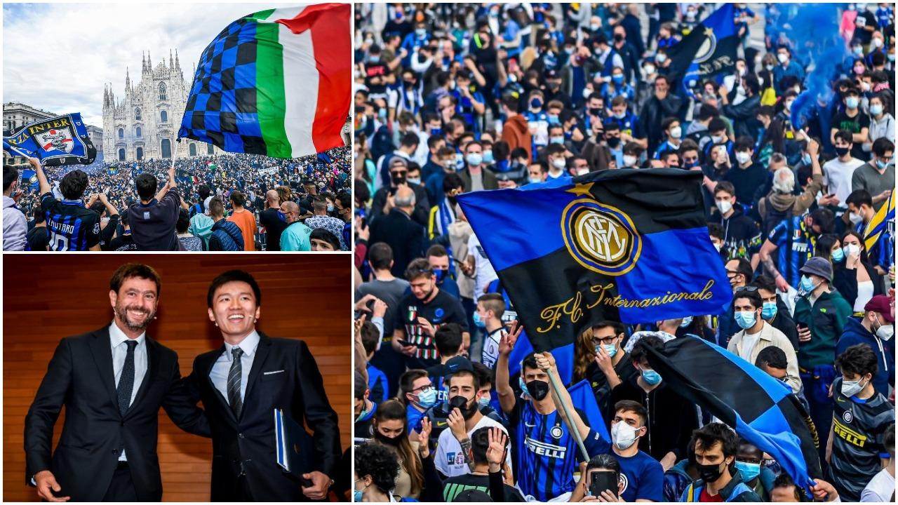 """VIDEO/ Urimet e para vijnë nga """"armiqtë"""", festë e çmendur e tifozëve të Interit"""