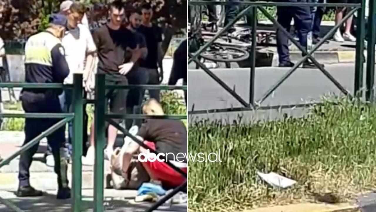 Makina përplas biçikletën në Tiranë, plagoset drejtuesi