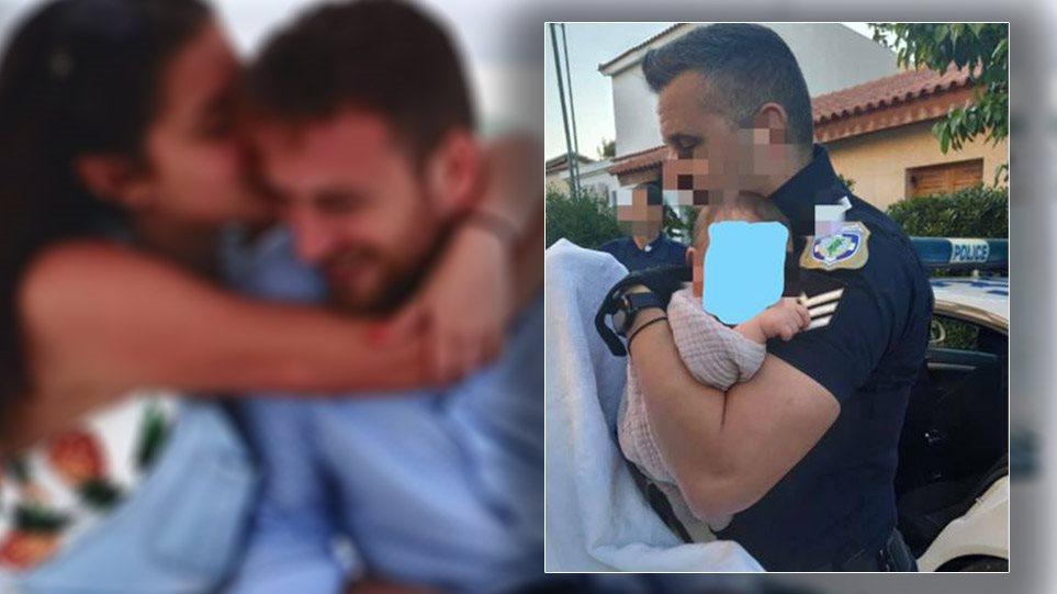 Grabitësit i vranë nënën, momenti prekës: Polici grek mban në krah foshnjën pas krimit