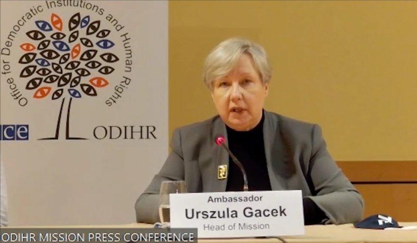 25 prilli, Rama takim me shefen e misionit vëzhgues të ODIHR Urszula Gacek