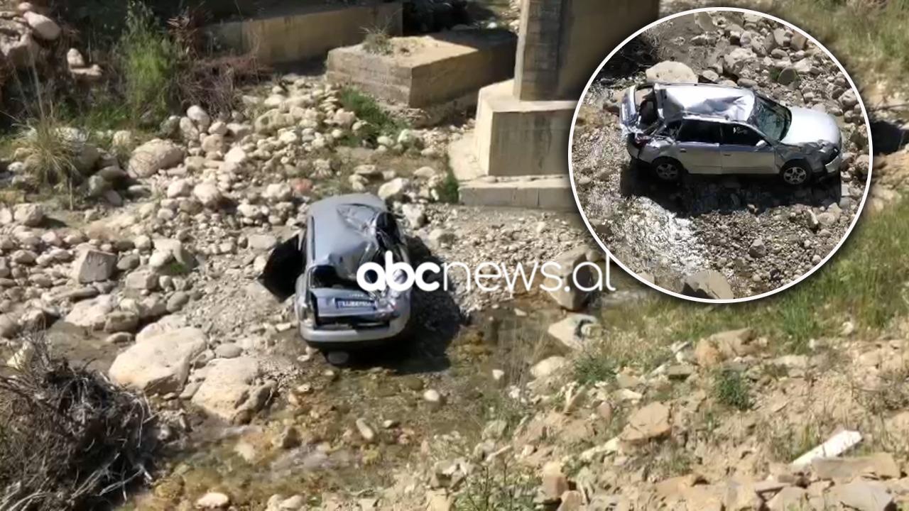 Makina bie nga ura në lumë, plagoset rëndë 28-vjeçarja, niset me urgjencë drejt Tiranës (EMRI)