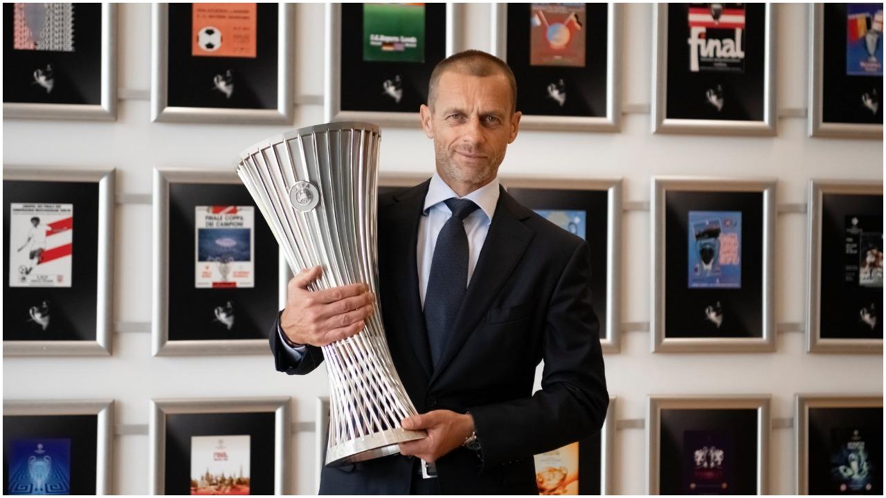 """Finalja e parë luhet në """"Air Albania"""", UEFA prezanton trofeun e Conference League"""