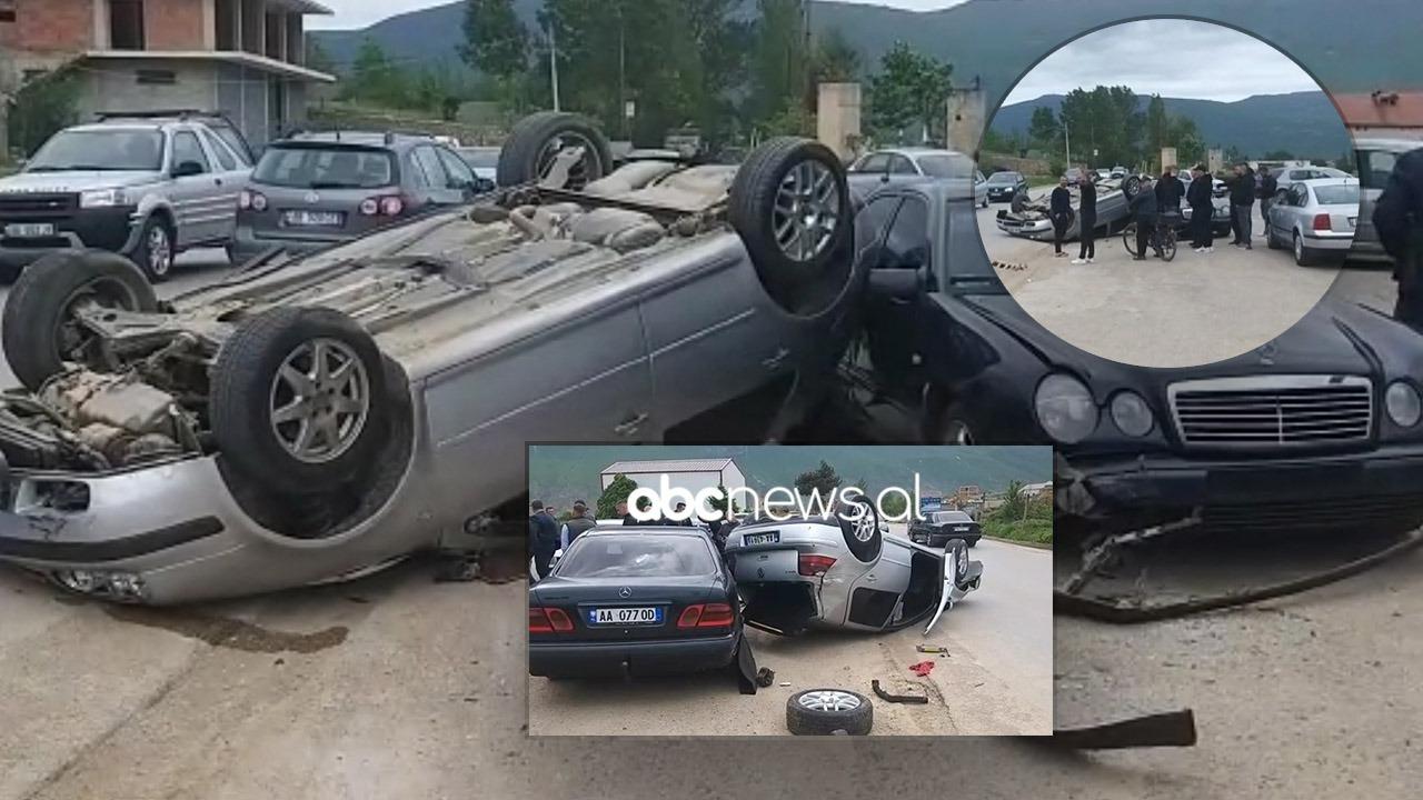 VIDEO/ E mori më qafë shpejtësia, shoferi përplaset me tre makina në Kukës
