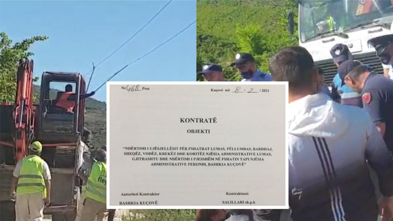 Banorët e fshatit Lumas përplasen me policinë, kundërshtojnë ndërtimin e Ujësjellësit