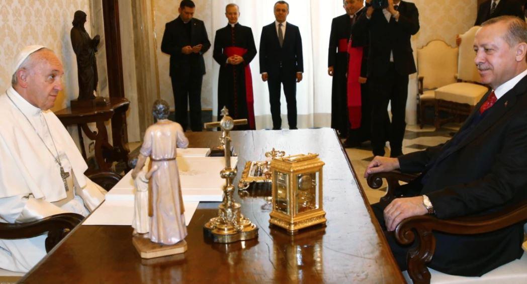 Erdogan i kërkon Papës të ndihmojë në çështjen e palestinezëve