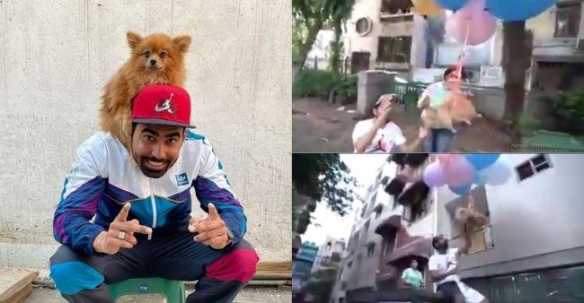 VIDEO/ Lidhi qenin në tullumbace me helium për ta bërë të fluturonte, arrestohet 32-vjeçari